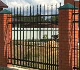 Забор Со столбами
